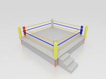 Boxing Ring. 3d render of a boxing ring Royalty Free Stock Photos
