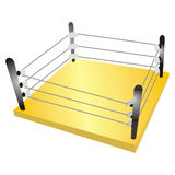 Boxing ring Stock Photo