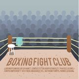 Boxing ring background. Box fight club background with ring and audience vector illustration Royalty Free Stock Image