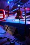 Boxing ring and bell Royalty Free Stock Image