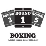 Boxing Ring Board. Boxing design over white background vector illustration Royalty Free Stock Images