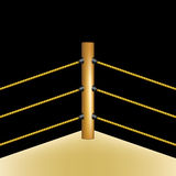 Boxing ring with brown ropes Stock Images