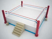 Boxing ring. 3d high quality render Stock Photos