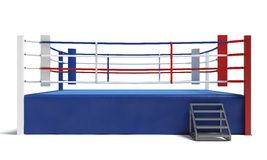 Boxing Ring. 3d illustration of a boxing ring Stock Images