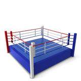 Boxing ring. 3d illustration isolated on white background Stock Image