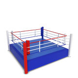 Boxing ring. 3d illustration isolated on white background Royalty Free Stock Images