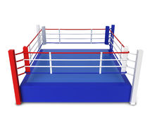 Boxing ring. 3d illustration isolated on white background Royalty Free Stock Photo