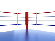 Boxing ring. 3d illustration isolated on white background Stock Photos