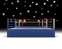 Boxing ring. 3d illustration. Boxing ring. 3d render image Stock Image