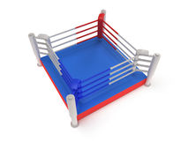 Boxing ring. High resolution 3d render. Sport, competition, match, arena concept Royalty Free Stock Images