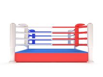 Boxing ring. High resolution 3d render. Sport, competition, match, arena concept Royalty Free Stock Photos