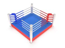 Boxing ring. High resolution 3d render. Sport, competition, match, arena concept Stock Photography