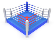 Boxing ring. High resolution 3d render. Sport, competition, match, arena concept Stock Image