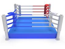 Boxing ring. High resolution 3d render. Sport, competition, match, arena concept Stock Photo