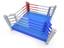 Boxing ring. High resolution 3d render. Sport, competition, match, arena concept Stock Images