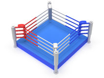 Boxing ring. High resolution 3d render. Sport, competition, match, arena concept Stock Photos