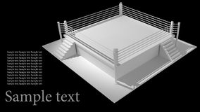 Boxing ring isolated on black background. 3d render high resolution Stock Photo