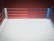 Boxing ring isolated on red Royalty Free Stock Image