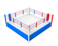 Boxing Ring. Isolated on white background. 3D render Stock Photos