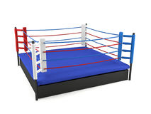 Boxing ring isolated on white background Royalty Free Stock Photos