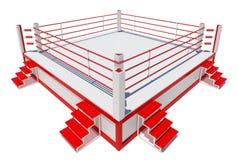Boxing ring isolated on white background Stock Image