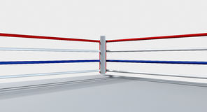 Boxing Ring Isolated White Stock Photography