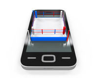 Boxing Ring in Mobile Phone Royalty Free Stock Photos