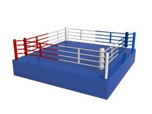 Boxing ring. New boxing ring on white Stock Photo
