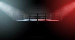 Boxing Ring Opposing Corners Stock Photos