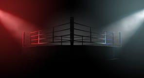 Boxing Ring Opposing Corners Royalty Free Stock Photo
