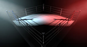 Boxing Ring Opposing Corners Stock Photography