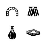 Boxing ring. Simple Related Vector Icons Stock Photography