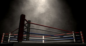 Boxing Ring Spotlit Dark royalty free stock image