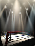 Boxing Ring Spotlit Dark Stock Images