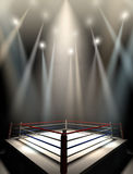 Boxing Ring Spotlit Dark Royalty Free Stock Photo