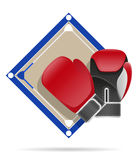 Boxing ring vector illustration Stock Photos