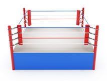 Boxing ring. On white background Stock Images