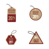 Boxing sale labels Stock Images