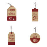 Boxing sale labels Royalty Free Stock Image