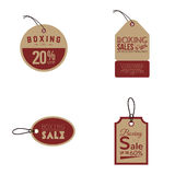 Boxing sale labels Royalty Free Stock Photography