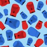 Boxing Seamless Pattern. Boxing gloves  Seamless Pattern, sporst background Royalty Free Stock Photo