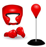 Boxing set Royalty Free Stock Images