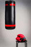 Boxing set on grey background Stock Images