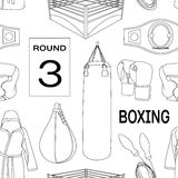 Boxing set pattern Royalty Free Stock Photo