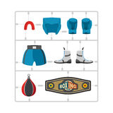 Boxing set Plastic Model kit. Collection champion. Gloves and pr Stock Image