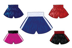 Boxing shorts set Stock Images