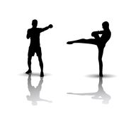 Boxing Silhouette Royalty Free Stock Photos
