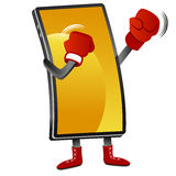 Boxing Smartphone Stock Image