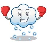 Boxing snow cloud character cartoon Stock Photo