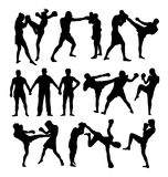 Boxing Sport Activity Silhouettes Royalty Free Stock Photo